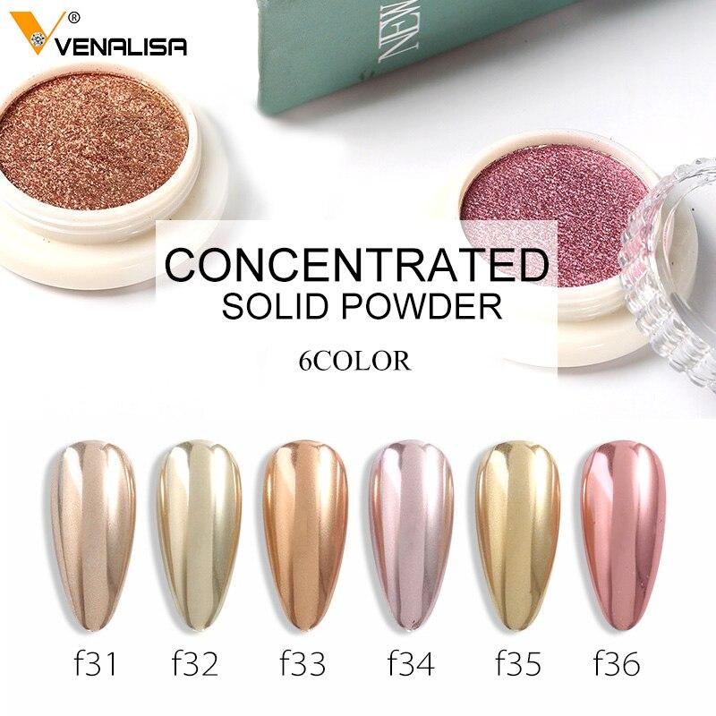 Purpurina en polvo brillante para decoración de uñas, de color sólido, dorado y plateado, para fiestas DIY