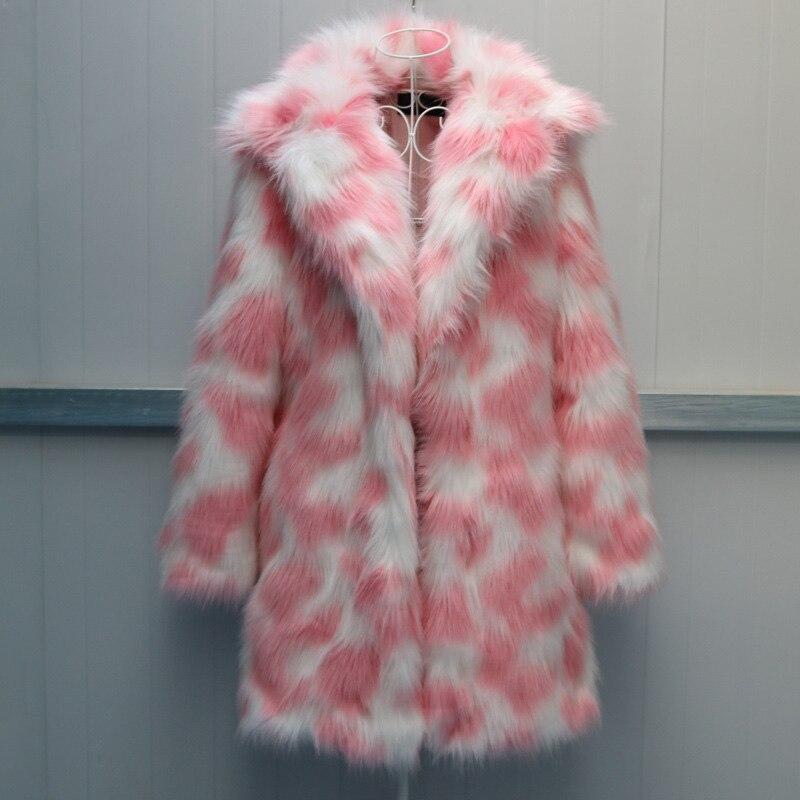 Тедди мишка пальто Радужный мех плюшевая куртка со светодиодной подсветкой искусственный мех пальто дизайн печатный Теплый Тонкий Повседн...