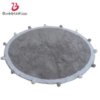 bubble kiss round carpets for kids room soft cotton round area rug for children playing welcome mats for front door mat