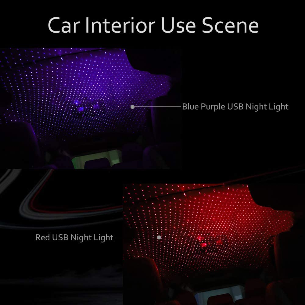 Romantic LED Starry Sky Night Light 5V USB Powered Galaxy Star Projector Lamp for Car Roof Room Ceiling Decor Plug and Play enlarge