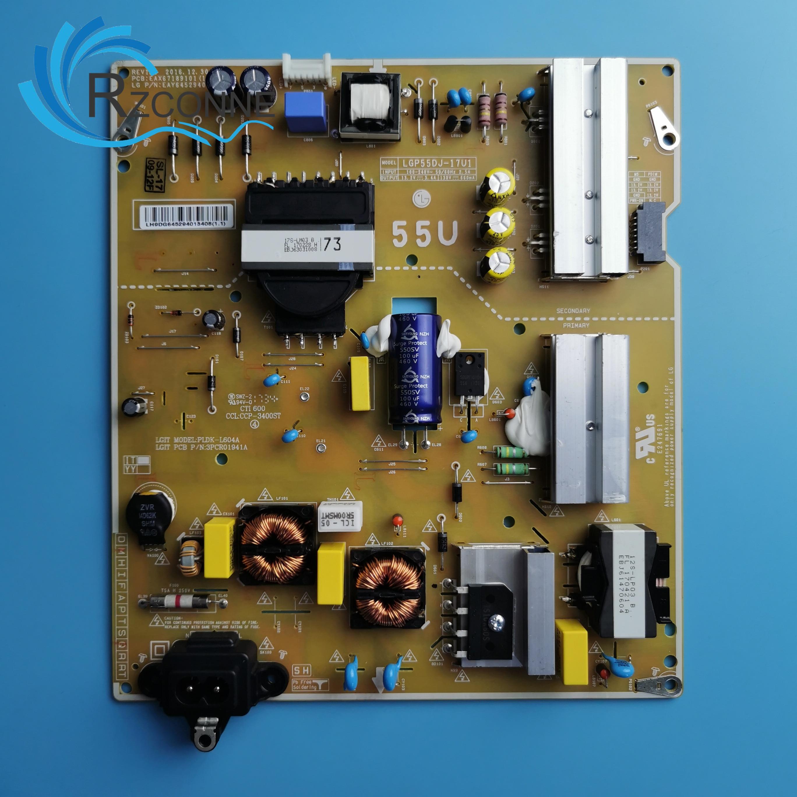 Fuente de alimentación de tarjeta para TV LCD LG, 55UJ6300, 55UJ630V, LGP55DJ-17U1,...