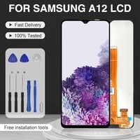 catteny original for samsung galaxy a12 lcd touch panel screen a125 display digitizer sm a12f sm a12fdsn assembly free shipping