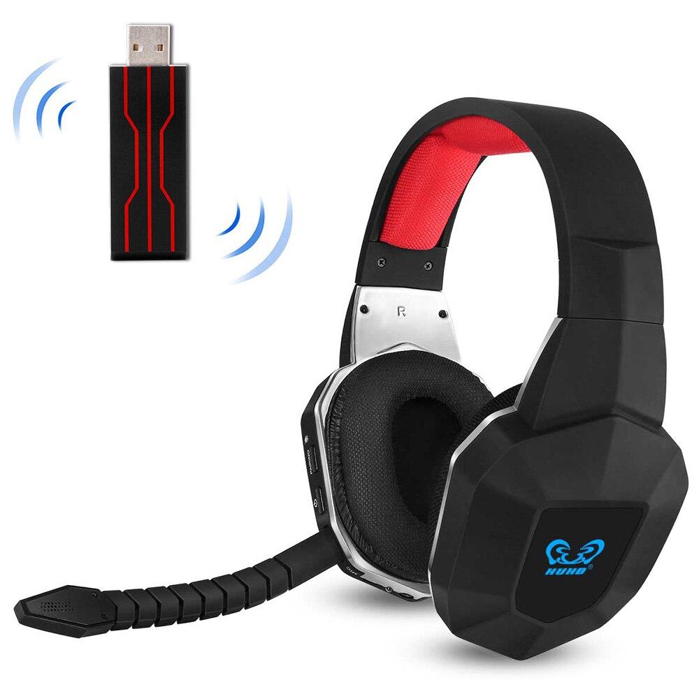 Fone de Ouvido sem Fio Fones de Ouvido de Jogos Jogadores de Vídeo pc sem Tempo de Atraso de 7.1 Fones de Ouvido para Ps4 Gamers Canais pc Switch tv Ps4 Usb –