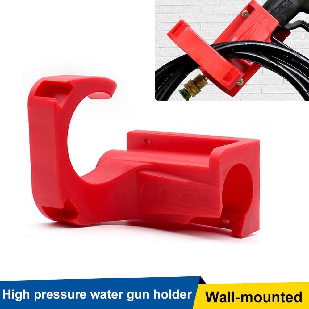 High Pressure Water Gun Holder Hanging Rack Wall Mounted Car Washer Bracket Hose Hook Storage Holder for Car Tools  Accessories outdoor swimming diving regulator bracket tool mounting pressure protable diving equiment hose hook breathing spare accessories