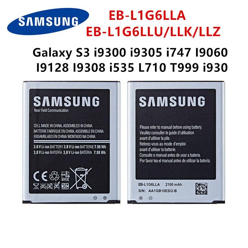 SAMSUNG оригинальная EB-L1G6LLA EB-L1G6LLU/LLK/LLZ 2100mAh батарея для Samsung Galaxy S3 i9300 i9305 i747 I9060 I9128 I9308 i535 i930