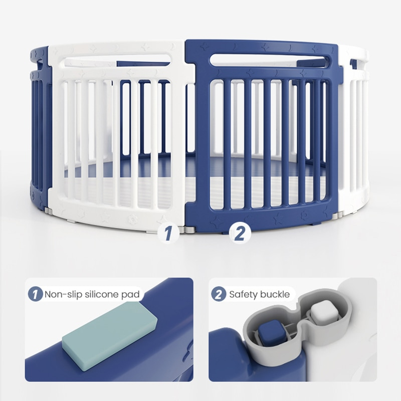 Baby Happy Play Fence Baby Indoor Home Crawling On The Ground Toddler Anti-Fall Fence Children's Round Amusement Park With Mat enlarge