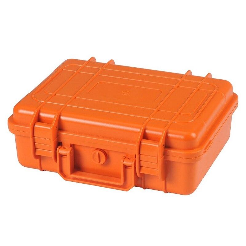 PP naranja sellado impermeable caja de secado equipo de seguridad caja herramientas portátiles supervivencia al aire libre buceo snorkel caja de almacenamiento