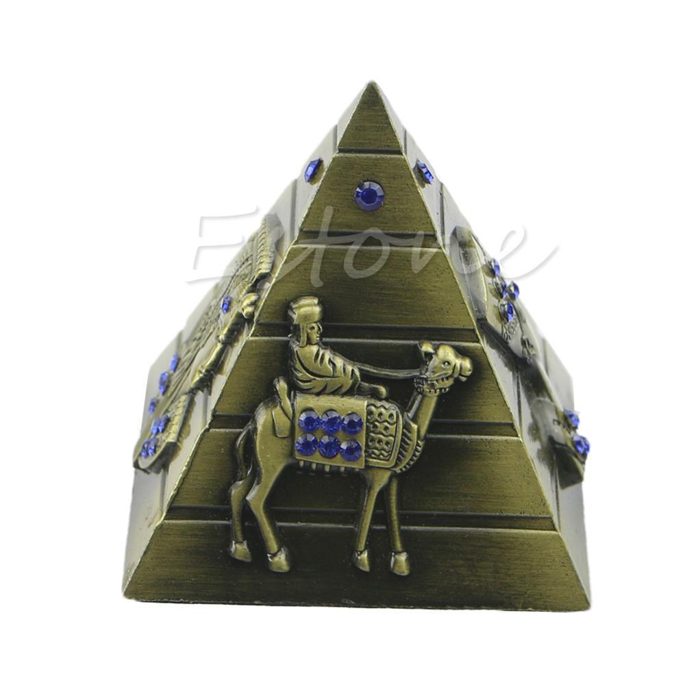 Faraón egipcio decorativo Faraón avellanos Camel Metal pirámide ornamento antiguo