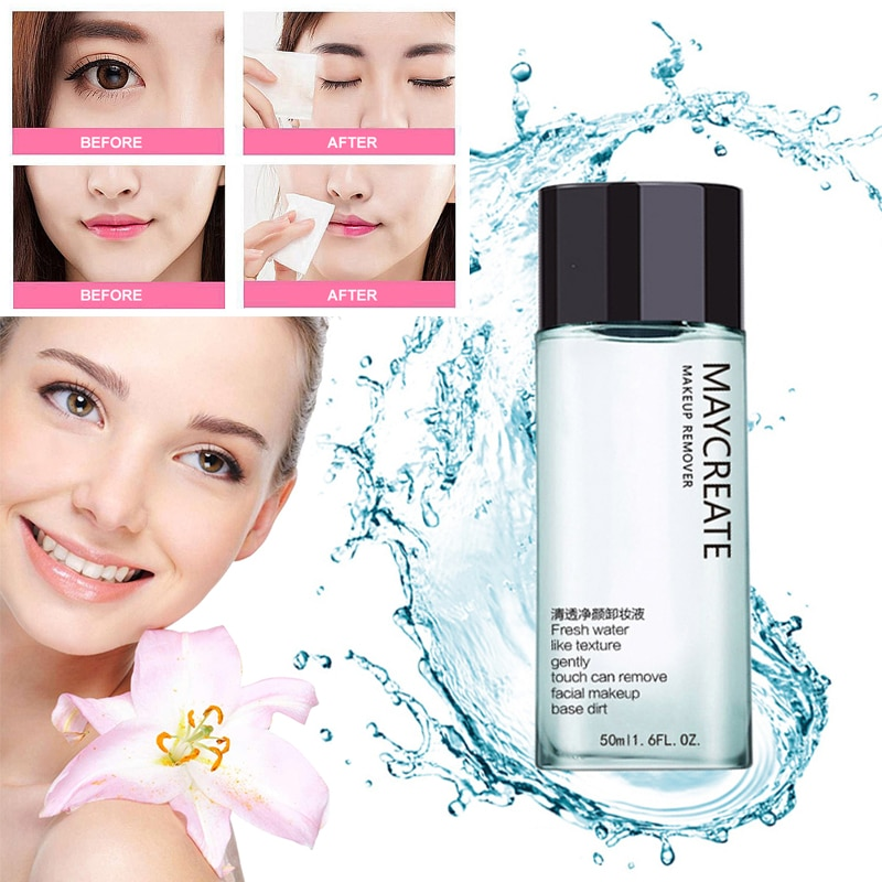 50ml Face Makeup Remover Products Natural Gentle Deep Speed Cleansing Eye & Lip Makeup Remover Non-g