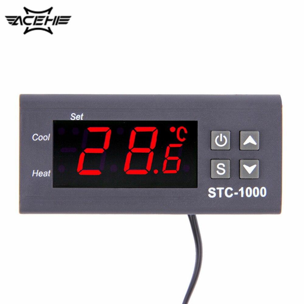 New High Quality Temperature Controller Thermostat Aquarium STC1000 Incubator Cold Chain Temp Mini-Temperature Controller