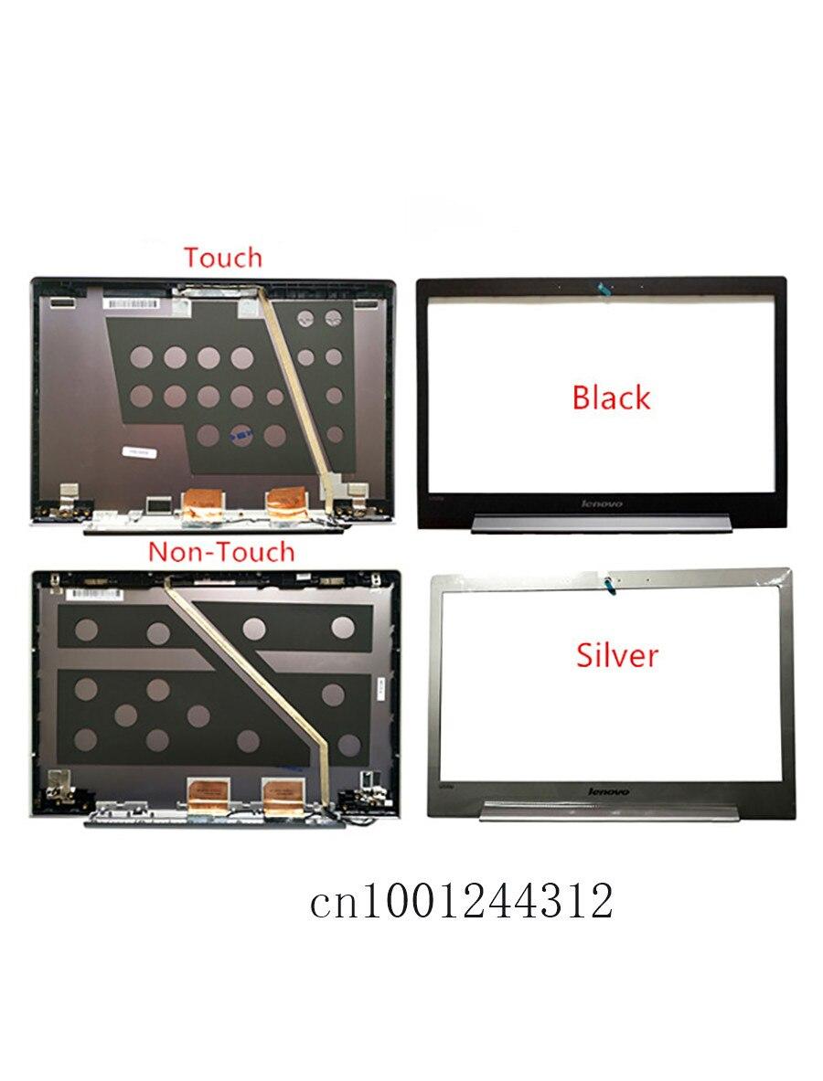 New Original For Lenovo U330 U330P U330T Silver LCD Rear Top Lid Back Cover / Front Frame Bezel 3CLZ5LCLV30 3CLZ5LCLV00 90203123