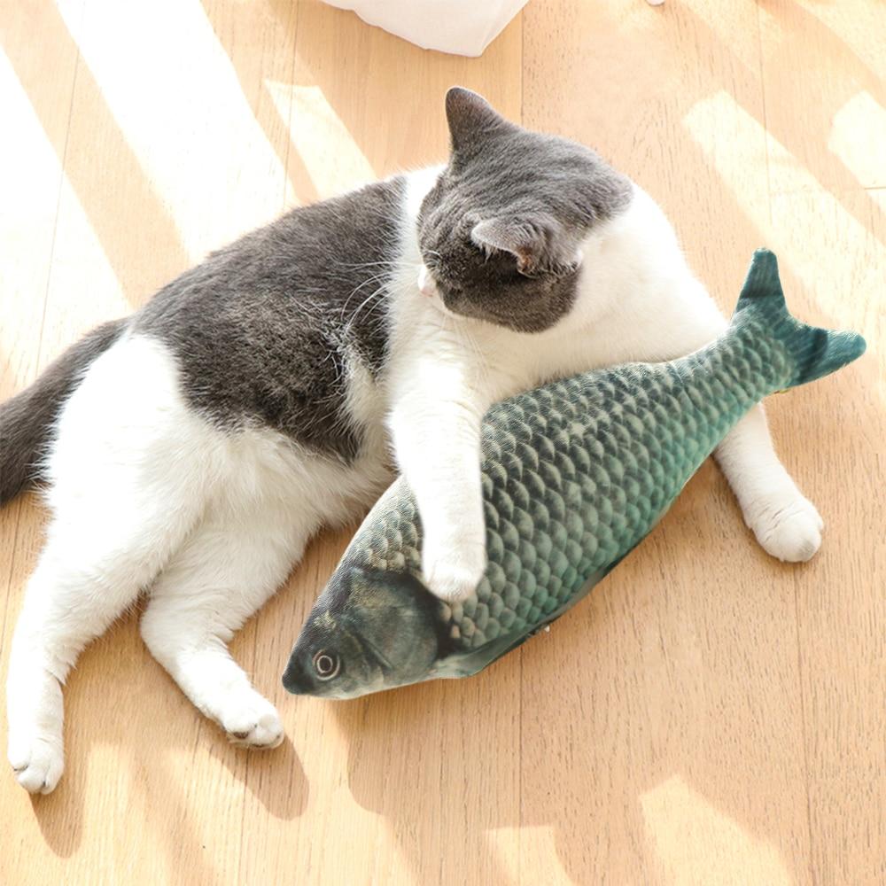 30 CENTÍMETROS Carregamento USB Simulação Peixe Eletrônico Pet Cat Toy Elétrica Brinquedos Do Gato Do Cão Mastigar Jogar Morder Suprimentos Dropshiping