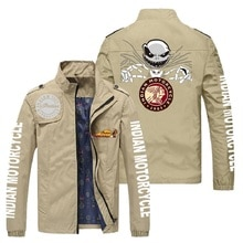Men's boutique printed jacket, brand high-end motorcycle windproof jacket, leisure fashion outdoor s