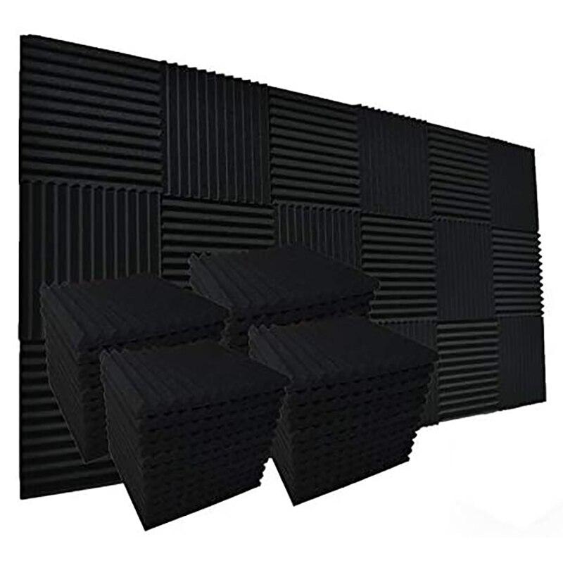 30 упаковок Allxinlog впитывает эхо акустическая пенопластовая панель с клиновидным цоколем настенная плитка 12 дюймов x 12 дюймов x 1 дюйм