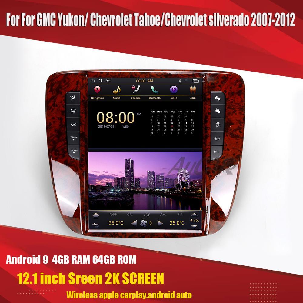Aucar Android tesla style For Chevrolet Tahoe /Silverado/GMC YUkon 2007-2012 multimedia Car radio vertical Gps navigation 1 din