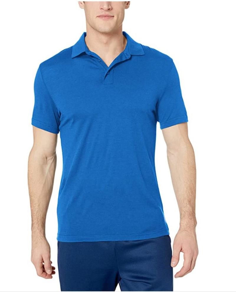 Men's Merino Wool Polo Shirt - 100% Merino Wool Mens Polo Shirts Short Sleeve Polo Baselayer Top Moisture Wicking USA Size S-2XL