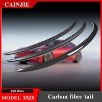 2021 model3 high performance trunk wing spoiler for tesla model 3 s x spoiler real carbon fiber model three accessories