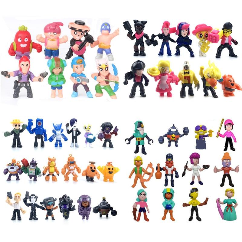 Brawl Star Games Cartoon Hero Anime Figure Model Spike Shelly Leon Primo Mortis Dolls Boy Toys Kid BrawlStars Birthday Gift