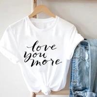 harajuku aesthetic design short sleeve t shirt summer 2021 simple alphabet printed womens clothing large size womens tshirts
