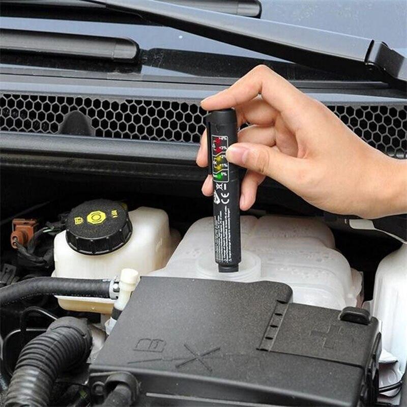High Quality Tester Car Brake Fluid Tester For Dot3/DOT4 Battery Liquid Digital Testing 5LED Indicator Moisture Water Compact