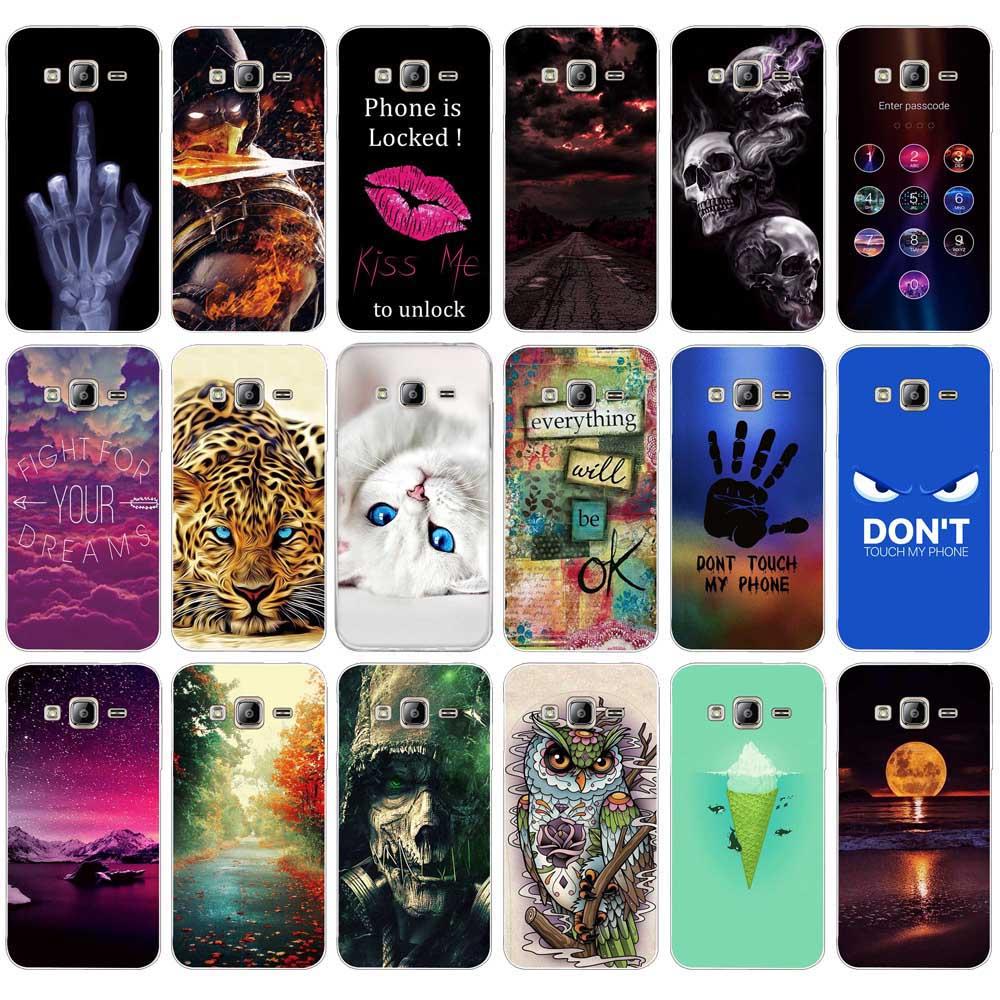 Capa de telefone para samsung galaxy j3 j300f j300 capa de silicone macio tpu caso de pintura para samsung galaxy j3 2016 caso j320f
