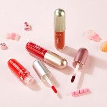 4 couleurs cristal lèvre glaçure Caramel soie hydratant longue durée imperméable belle rouge à lèvres ensemble lait thé chocolat Style TSLM1