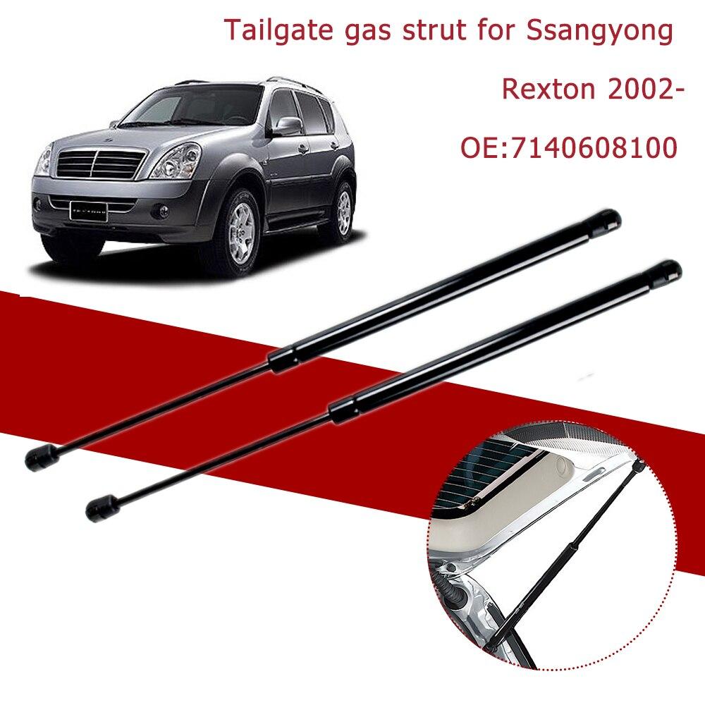 2 pçs suporte de elevador suportes a gás traseiro tronco bagageira boot primavera amortecedor prop amortecedor para ssangyong rexton 2002-2016