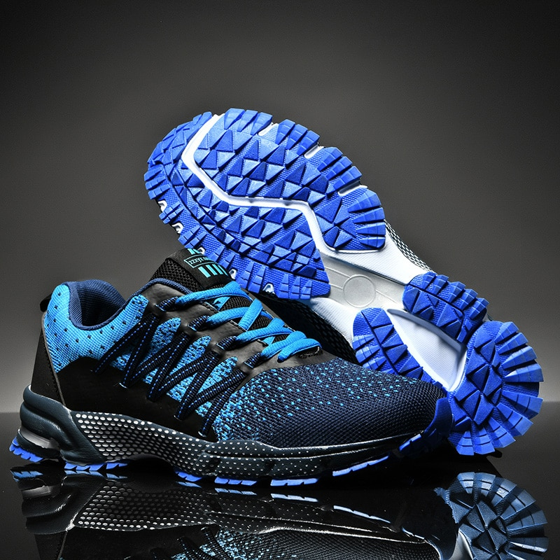 New Mens Sneakers Anti Slip Trailing Running Shoes Breathable Jogging Walking Sneakers Men Size 38-45 Light Weight Sport Shoes