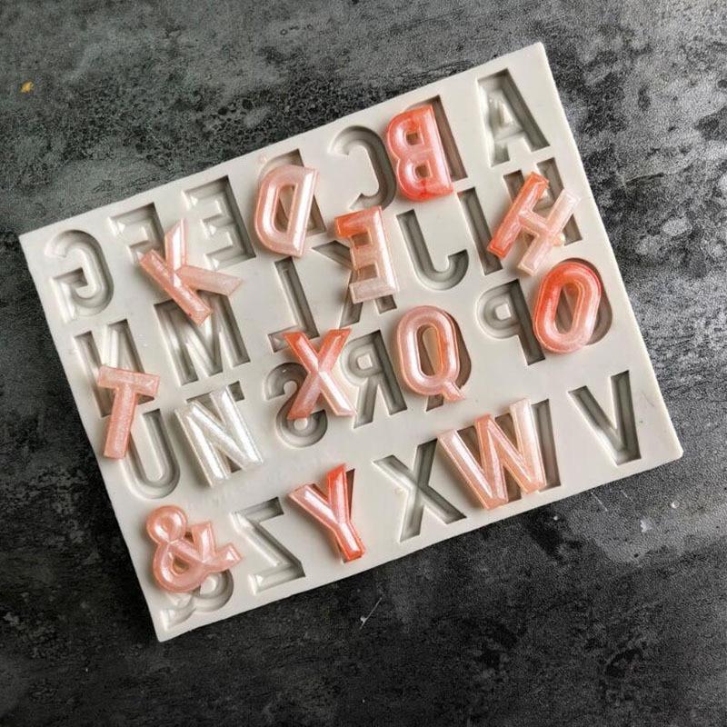Буквенно-цифровая силиконовая форма, инструмент для украшения шоколада, форма для торта, форма для мастики, сахарного ремесла, кухонной утв...