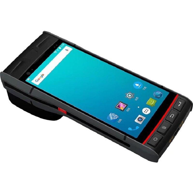 CARIBE-ماسح الباركود ، 5.5 بوصة ، مع Android 8.1 ، NFC ، RFID ، محطة الطباعة الحرارية المحمولة ، للمستودع اللوجستية