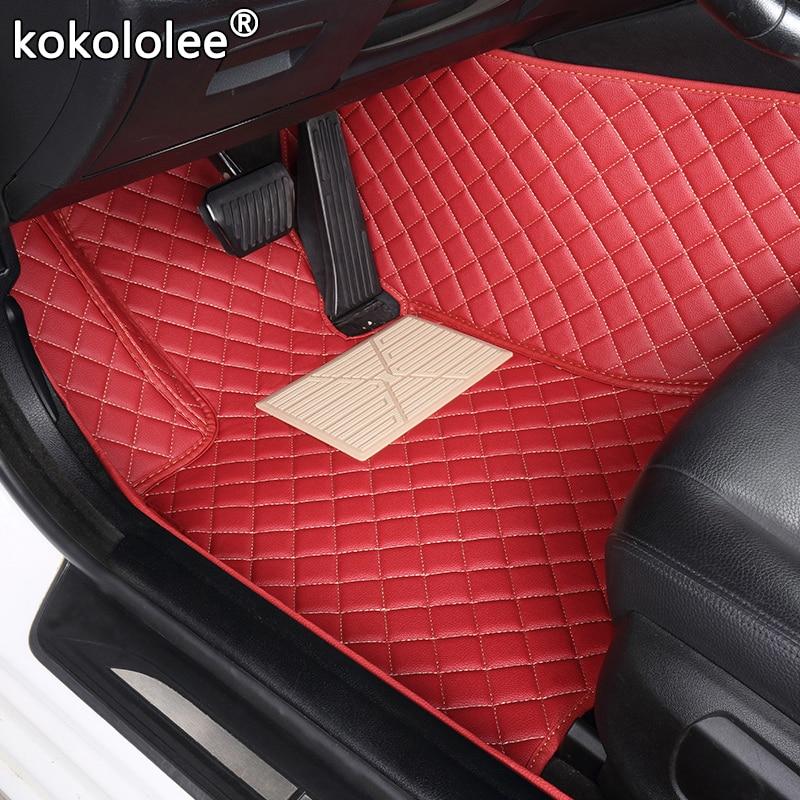 Kokololee personalizado esteiras do assoalho carro para jaguar I-PACE xj xk xf xe xjl xj6 xj6l F-PACE F-TYPE marca empresa macio acessórios carro pé