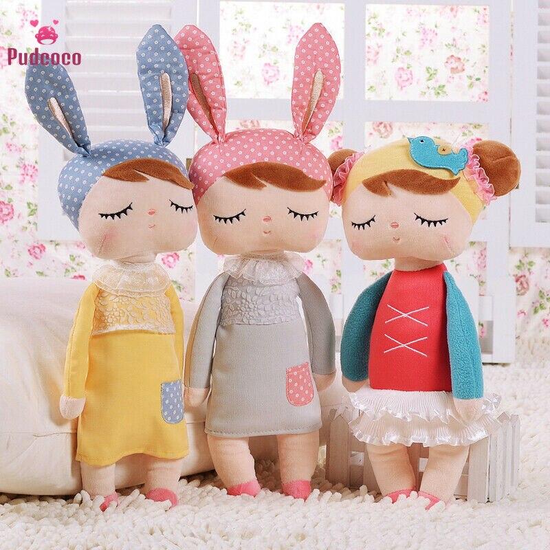 Juguete relleno ME TOO, chica durmiendo Angela, conejito de felpa, muñeca de juguete de hipopótamo, unicornios de juguete para niños, regalo de cumpleaños o de Navidad