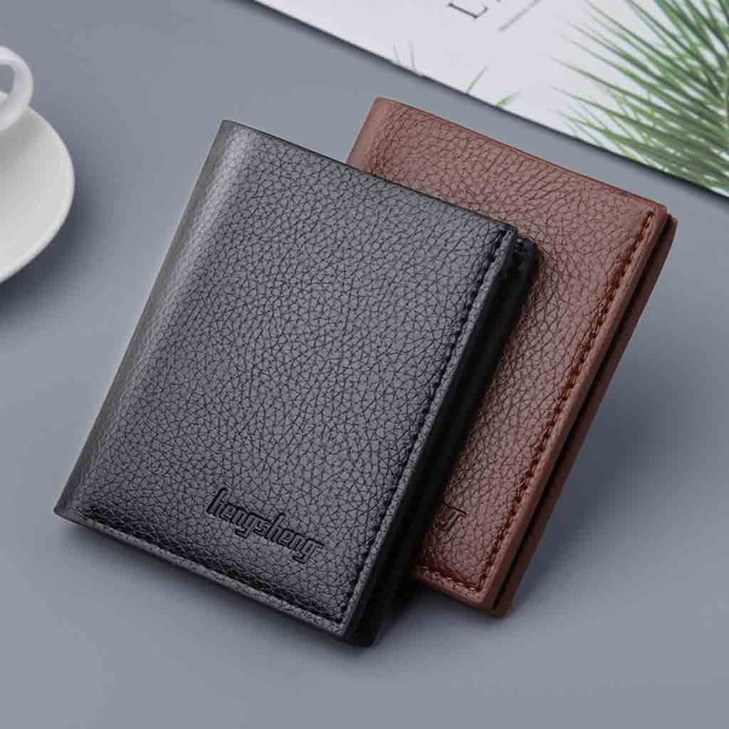 Männer brieftasche männer kurze business vertikale ultra-dünne brieftasche bank karte foto ordner karte tasche kleine brieftasche männlichen monedero mujer