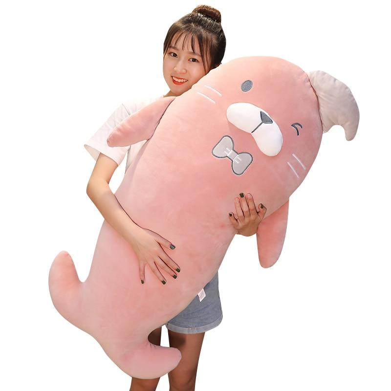 60-110cm Cute cartoon animal sea lion sea dog doll stuffed toy pillow  Plush toys soft child girl New Year gift