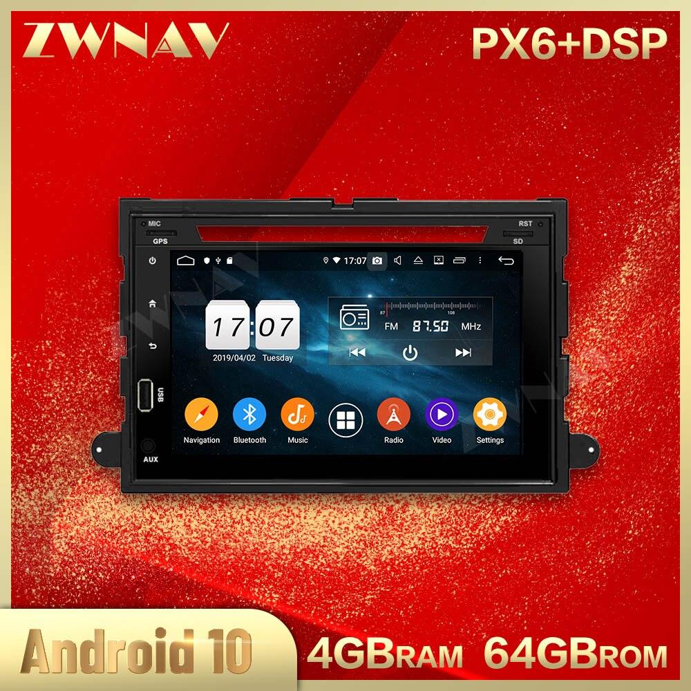 2 din android 10.0 tela do carro multimídia player para ford fusion explorer estéreo de rádio vídeo gps navi unidade principal áudio estéreo automático