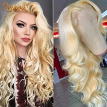 Blonde 613 Lace Front Wig 13X4 Lace Frontal Body Wave Wig Remy Human Hair Wigs Pre Plucked Body Wave