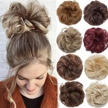 Snoilite-coletero elástico para mujer, moño para el pelo, moño, moños, accesorios para el cabello updo sintético, extensiones de coleta