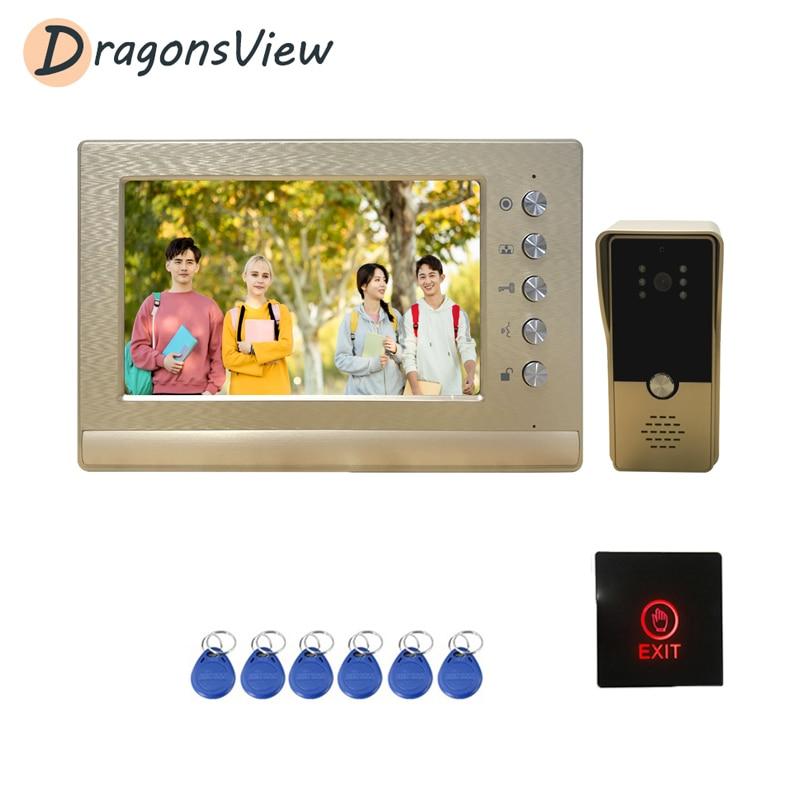 Sistema de videoportero Dragonsview, Kit de videoportero con cable para casa Villa edificio apartamento