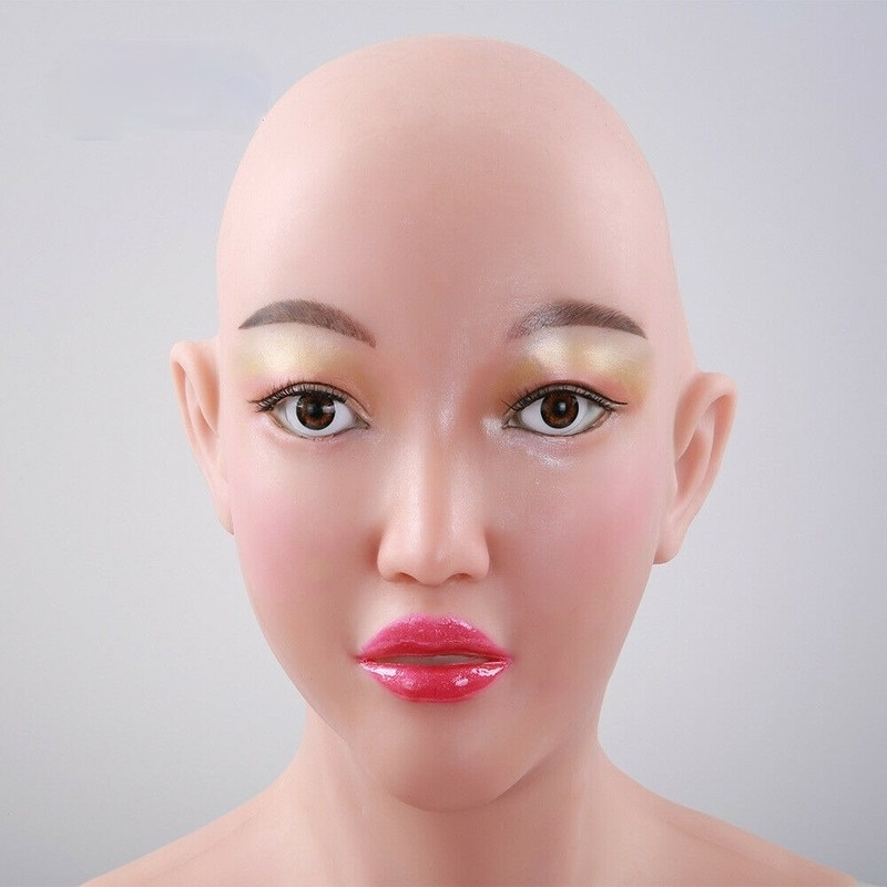 Pele de Silicone Chapelaria com d Fácil de Carregar Máscara de Silicone Shapers do Corpo para Travestis Copo Peito Halloween Realista