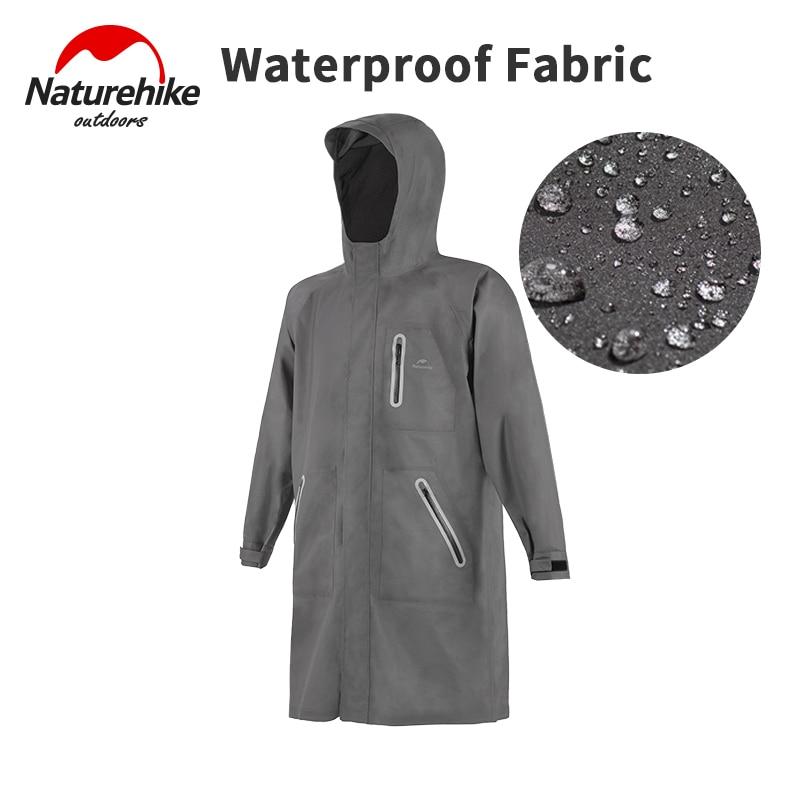 Naturehike Long Loose Hooded Raincoat Rainstorm Waterproof Poncho Outdoor Camping Cycling Rain Jacket