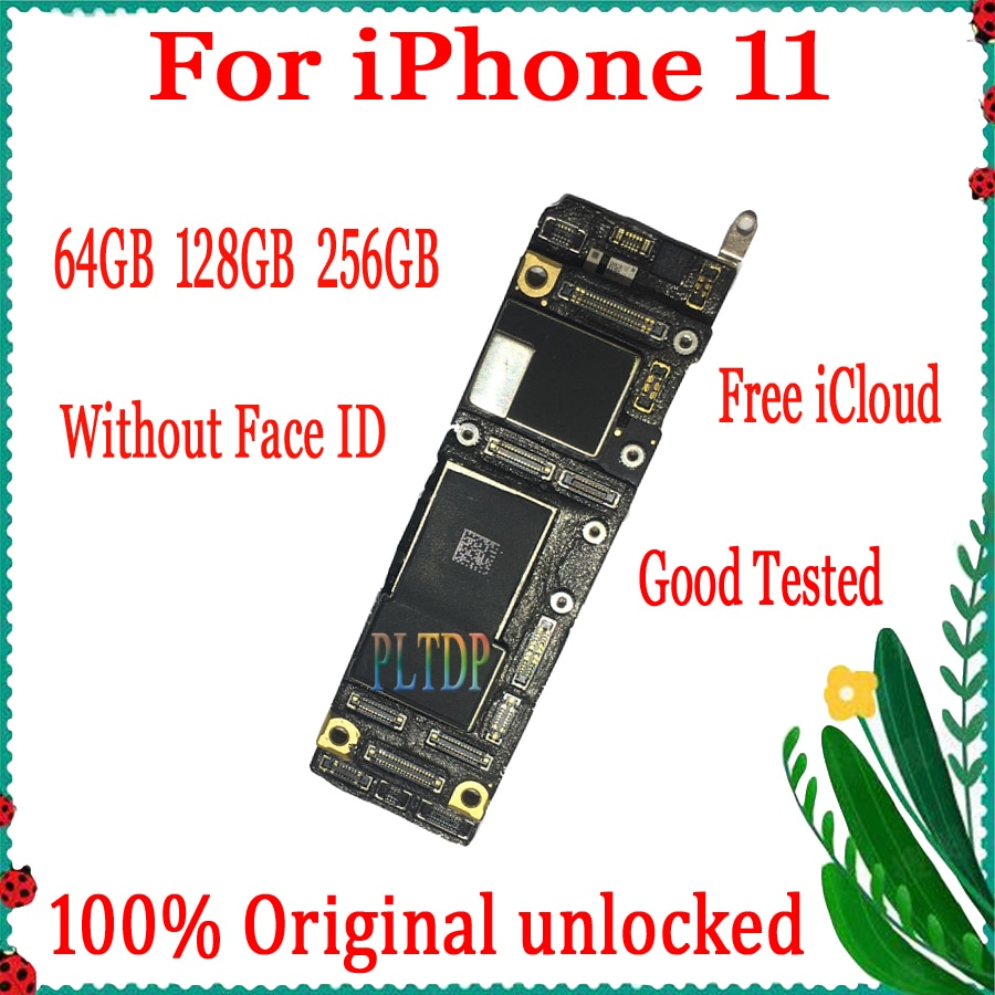 Get Good Tested for iPhone 11 motherboard No Face ID,Full unlocked for iphone 11 IOS System logic board free icloud 100% Original