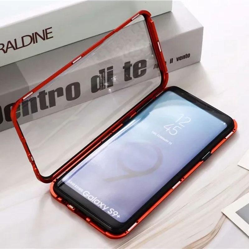 360 Полный Магнитный чехол для Samsung Galaxy Note 10 Pro S10 5G S20 Plus Coque A51 A71 A90 A50 A70 A80 металлический бампер S9 стеклянный чехол