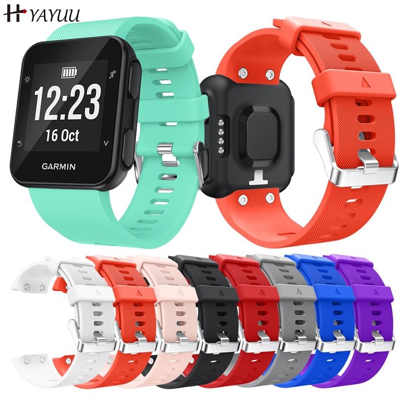 YAYUU Silicone Watch Strap for Forerunner 35 Wrist Strap Bracelet for Garmin Forerunner 35 Smart Wat