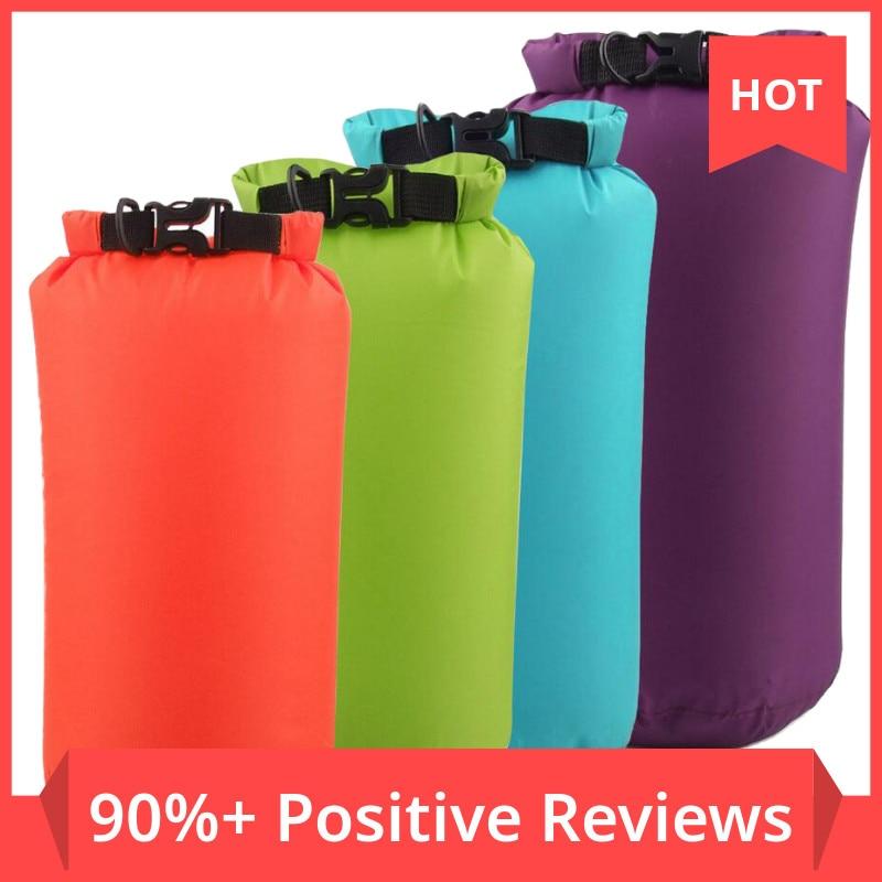 8L 15L Bucket PVC Bag Outdoor Dry Waterproof Swim Bag Dry Bag Sack Floating Dry Gear Bags For Boatin