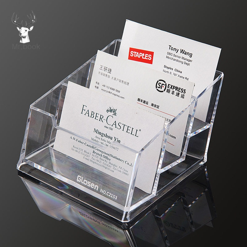 Прозрачный акриловый держатель для карт, стойка для дисплея, настольный органайзер, офисные принадлежности для дома, стойка для хранения ка...