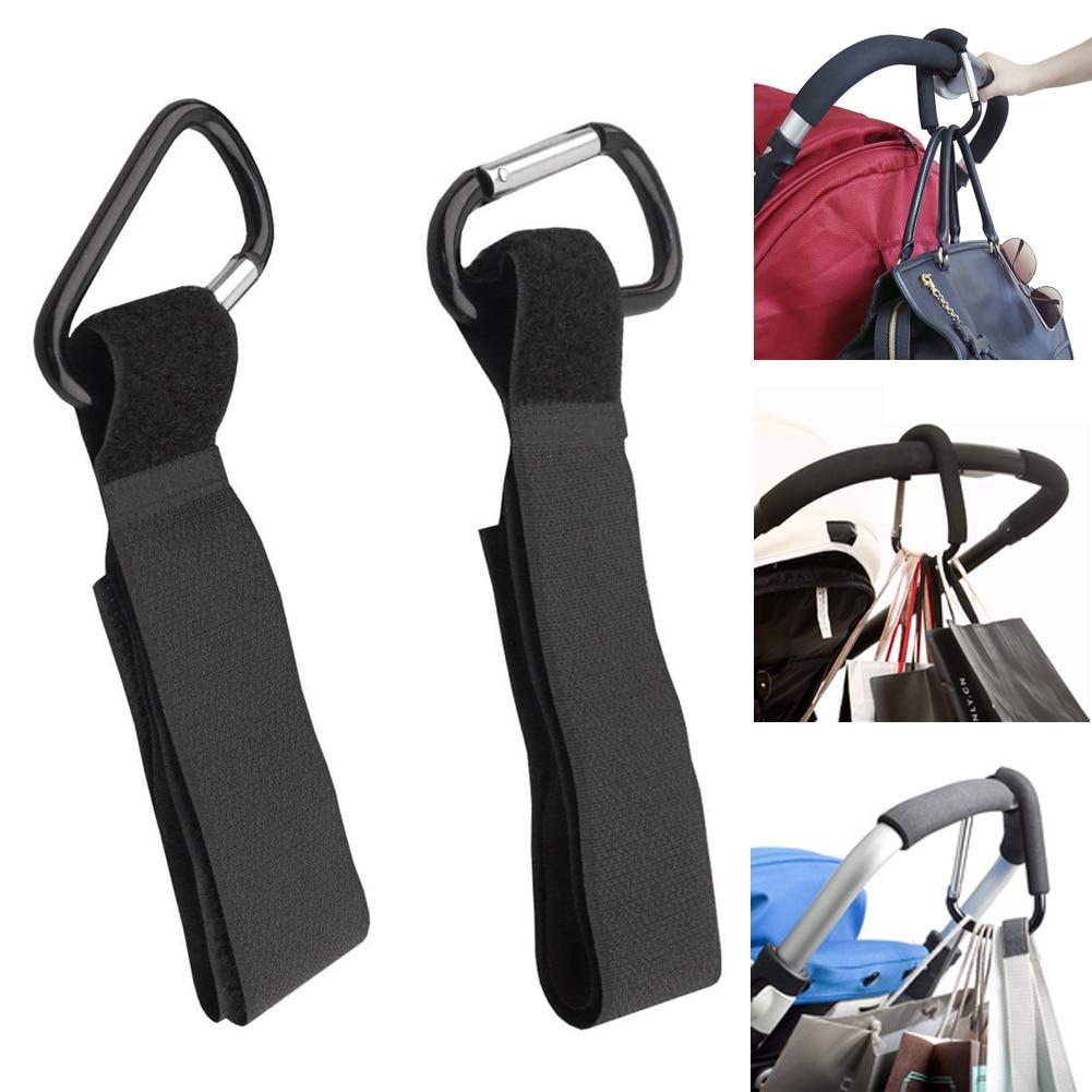 4pcs/lot Baby Stroller Hooks Universal Pram Wheelchair Pushchair Carriage Buggy Clip Hanger Strollers Hook Kid Shopping Bag Clip