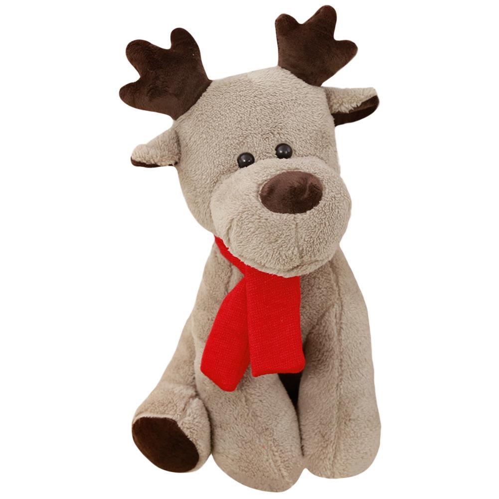 Bufanda adorable Reno peluche suave muñeca niños juguete casa sofá decoración regalo de Navidad para niños casa adornos de decoración de Navidad nuevo