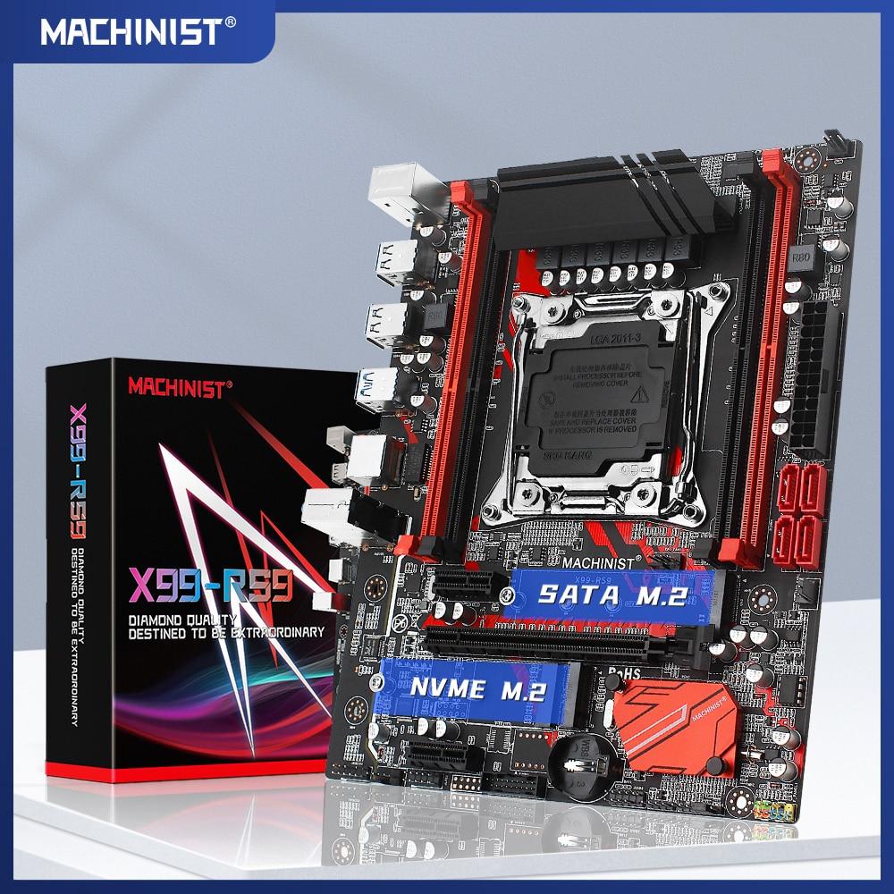 X99 اللوحة LGA 2011-3 مع M.2 NVME فتحة دعم أربعة قنوات DDR4 64GB ECC SATA3.0 USB3.0 100% اختبار سليمة X99-RS9