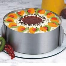 DIY Stainless Steel Cake Cutter Slicer Adjustable Round Bread Adjustable16cm-30cm Cake Ring Mold Cake Layered Baking Tools