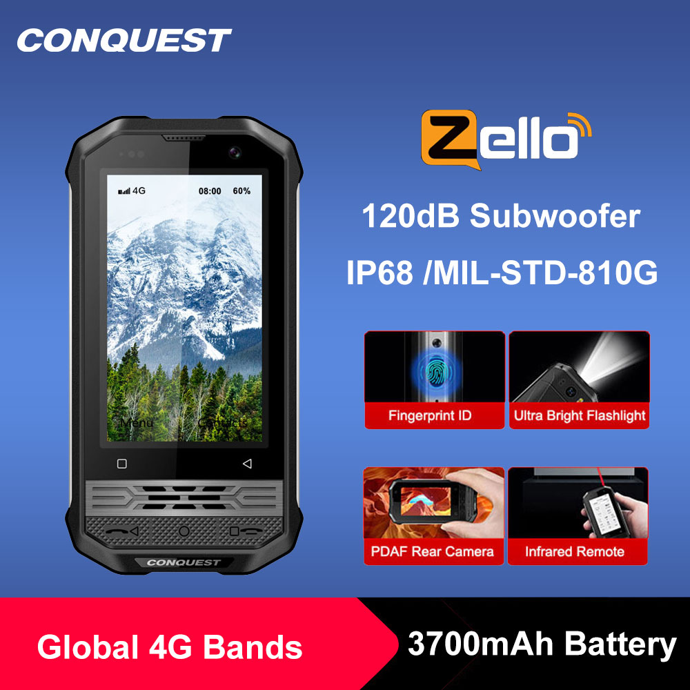 Перейти на Алиэкспресс и купить CONQUEST F2 класса люкс мини IP68 прочный смартфон мобильный телефон NFC глобальная версия маленького F2 Android смартфон мовиль